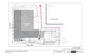 new design for iowa events center hotel revealed but over budget