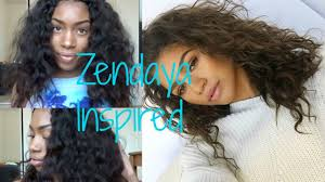 zendaya hair inspired heatless wavy hair tutorial