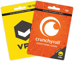gift card vrv home of your favorite channels