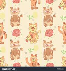 wallpaper cat illustration cat dog background wallpaper seamless caricature stock illustration