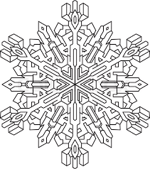 outlines snowflake mono style coloring coloring