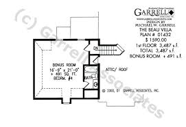 beau villa house plan house plans by garrell associates inc