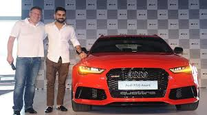 audi rs price in india virak kohli launches audi rs6 avant at rs 1 35 crore the indian