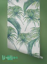 tropical pattern wallpaper exotic removable wallpaper palm