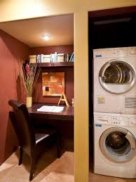 Small Bedroom And Office Combos 10 Clever Storage Ideas For Your Tiny Laundry Room Hgtv U0027s