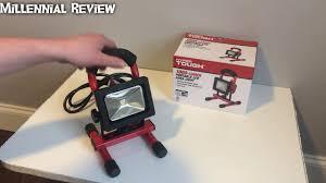 420 lumen led work light hyper tough 1000 lumen portable led area light youtube