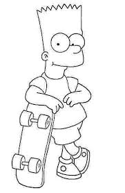 free simpsons coloring pages letscoloringpages com bart