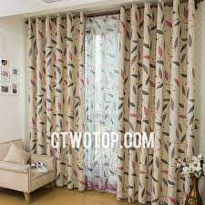vintage bedroom curtains beige leaf blackout vintage beautiful bedroom grey curtains