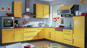 yellow and red kitchens houses spring kitchen kitchens design flowers kitchen wall