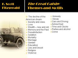 themes of wealth in the great gatsby the moderns ppt video online download