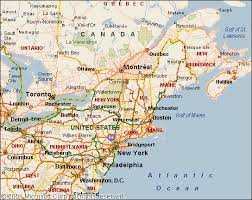 map of ne usa and canada road map of eastern canada major tourist attractions maps