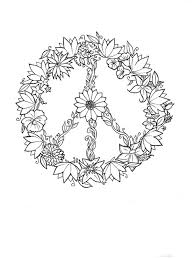peace sign small pencil and in color peace sign small