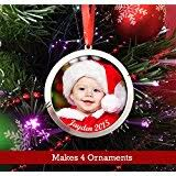 make your own glass photo ornaments kit 6 square