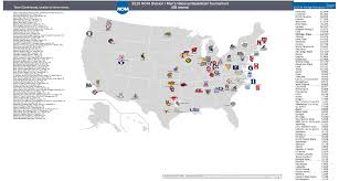 Colleges In Washington State Map by A Map Of The Location Of Each Team In This Year U0027s College