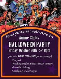 free halloween party flyer anime club halloween party uc santa barbara events u0026 tickets