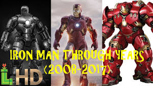 iron man through the years including spider man home coming