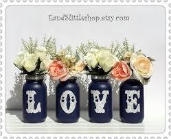 mason jars set wedding centerpieces home decor shabby chic
