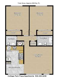 college floor plans college park plaza apartments