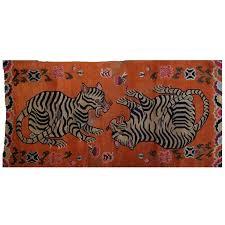 Antique Indian Rugs Tibetan Playful Tiger Cub Rug Antiques Carpets And Tiger Cubs
