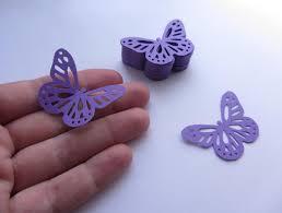 Purple Butterfly Decorations Paper Butterflies 50 Die Cut Butterflies Die Cuts Wedding