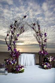 wedding arches made from trees 25 wedding arches decoration ideas purple accents purple and woods