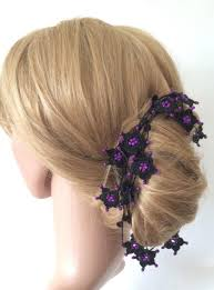 boho hair wrap bridal hair wrap headband wedding hair jewelry boho crochet