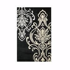 home decorators collection romantica black 8 ft x 11 ft area rug