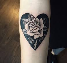 100 heart and rose tattoo designs memorial heart and roses