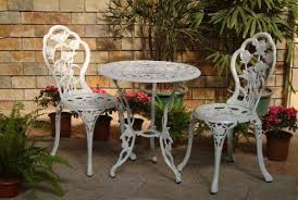 Cast Iron Bistro Table And Chairs Furniture Add Your Garden And Home With The Cast Iron Bistro Set