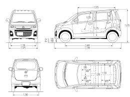 mazda car line mazda az wagon blueprint micro tiny city car motocoupé