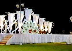 wedding backdrop on stage wedding stage backdrop management service panache events