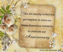 marriage celebration quotes anniversary invitation wording free anniversary invitation wording