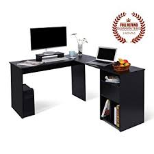 Large Corner Computer Desk Best Black L Shaped Computer Desk Ideas Liltigertoo