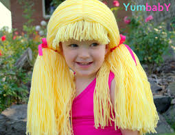 halloween costume blonde wig cabbage patch hat blonde pigtail wig baby hat halloween