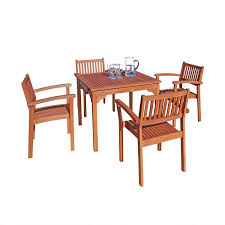 amazon com vifah v1104set1 outdoor wood 5 piece dining set 35 4
