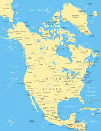 Printable North America Map by Printable North America And Canada Map