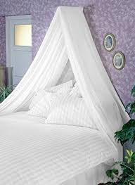 Bed Canopy Uk White Bed Canopy Set Soft Sheer White Voile Rod Fixing Kit