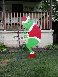 grinch outdoor decorations lights card and