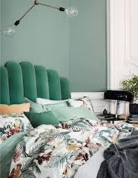 chambre verte chambre verte inspiration style ethnique exotique textile