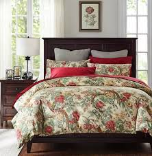 pink red purple black green beige bedding sets ease bedding with chinoiserie chic peacock floral duvet cover paradise garden botanical bird and tree branches vintage stylized long