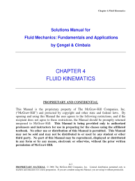cengel cimbala solutions chap04 continuum mechanics fluid dynamics
