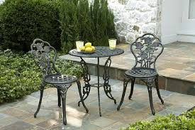 metal patio table and chairs wrought iron patio set in sophisticated look the kienandsweet