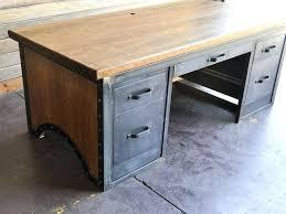 Office Desk Vintage Industrial Office Desk Chairmen Desk By Vintage Industrial