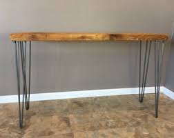 hairpin leg console table items similar to urban wood console table hairpin legs modern