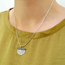 leaf pattern necklace silver leaf pattern necklace by shere design notonthehighstreet com
