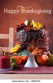 beautiful autumn fall theme thanksgiving dinner table place
