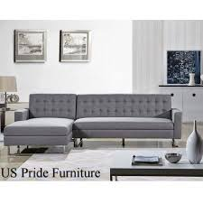 Tufted Sectional Sofas Dorris Contemporary Button Tufted Sectional Sofa With Chaise