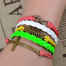 infinity braid bracelet images New 2015 leather charm bracelet braid multilayer bracelet infinity jpg