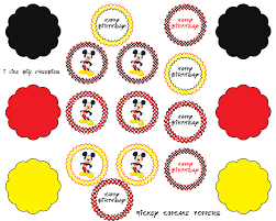 mickey mouse cupcake toppers free printable ideas