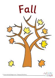 fall tree poster